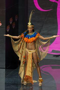 Haitian dressed as a Taino - original habitant of Haiti