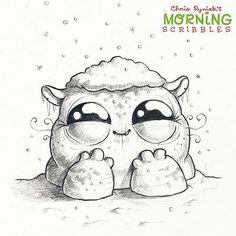 Deep snow! ❄️❄️❄️ #morningscribbles #christmas2015  | Flickr