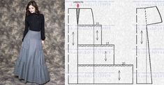 Posts on the topic of Шитье простые выкройки added by Taika Skirt Patterns Sewing, Vintage Sewing Patterns, Clothing Patterns, Sewing Pants, Sewing Clothes, Pola Rok, Techniques Couture, Handmade Dresses, Fashion Sewing