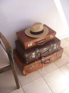old suitcases for decoration