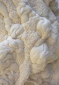 Touch and sensitivity is something that drives us by its power. See more on pull… – Fashion Design Sculpture Textile, Art Textile, Soft Sculpture, Textile Patterns, Textile Design, Benjamin Shine, Art Du Monde, Shibori Fabric, Trash Art