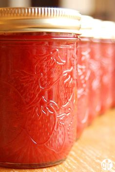 "Rhubarb Strawberry Jam | ""This rhubarb strawberry jam recipe is our favorite and so easy to make."""