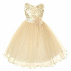 Flower Girl Dress; Not in gold though