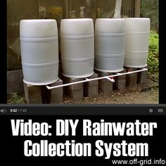 video from MrNativeTexan that will show you how put together a simple-to-construct rainwater collection system for your garden! There are a couple of neat ideas [...]