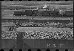 Railroad yards at Williamson, West Virginia... October 1935