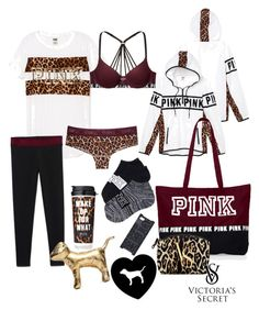 """""""•Victoria secret pink•"""" by haileycouture ❤ liked on Polyvore featuring Victoria's Secret and Victoria's Secret PINK"""