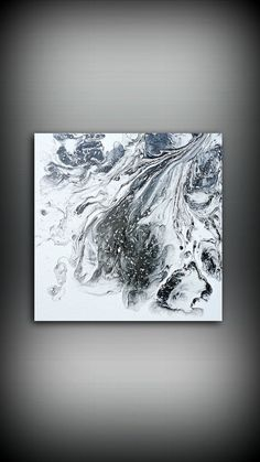 Black And White Painting Abstract Painting Acrylic Painting Small Wall Art Canvas Modern Home Decor Wall Hanging Black And White Painting Ready To Ship Abstract Painting Large Canvas Wall Art, Extra Large Wall Art, Abstract Canvas, Canvas Art, Smoke Painting, Pour Painting, Claude Monet, Pablo Picasso, Van Gogh