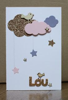 What the scrap ?: Une petite carte pour Lou carte de naissance – Agea Happiness What the scrap ?: Une petite carte pour Lou carte de naissance What the scrap ? Kids Cards, Baby Cards, Diy Paper, Paper Crafts, Scrapbook Bebe, Small Cards, Cardmaking, Birthday Cards, Diy And Crafts