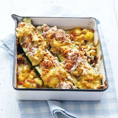 Rezept für Zucchini mit Thunfisch-Reis | Küchengötter