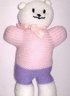 Charity bear made by Blue Light Babies, UK, for yarndale.co.uk Crochet Bear, Charity, Bears, Hello Kitty, Light Blue, Community, Babies, Creative, Projects