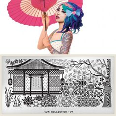 moyou Nail Art design Image Plates-Suki collection