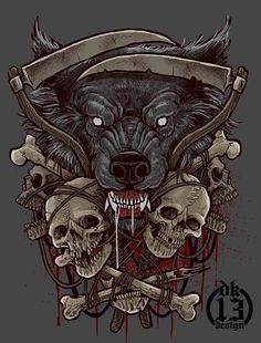 Wolf by DK13Design.deviantart.com on @DeviantArt