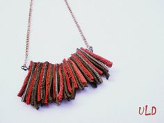 Leather Statement Necklace for Her Leather by UniqueLeatherDesign