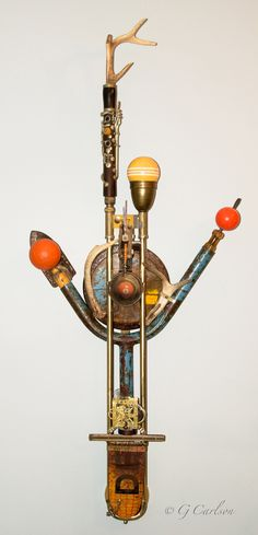 X's 5 =, Gary Carlson, $1500, Found object assemblage sculpture