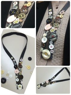Zipper Necklace  雑誌で見て、いつかは作って見たいと思っていましたが、ようやく完成しました。