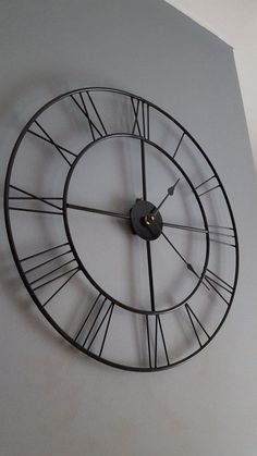 clock metal clock rustic antique roman by oakridgeironwork on Etsy Big Clocks, Large Clock, Clock Tattoo Design, Clock Decor, Clock Wall, Wall Decor, Devine Design, Metal Clock, Metal Furniture
