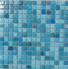 Mosaïque discount mélange bleu les Antilles au m²- Mosaïque de pâte de verre mélange, 2 cm