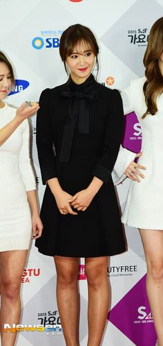 Girls' Generation at the red carpet event of the 2015 SBS' Gayo Daejun