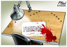 FREEDOM... | Jan/8/15 WORLD Political Cartoon by Gary Varvel
