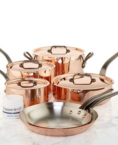 Mauviel Copper Cookware, 10 Piece Set - Cookware - Kitchen - Macy's   Mmmmm what I would do to purchase this.
