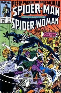 Spectacular Spider-Man (1976 1st Series) 126  Marvel Comics Peter Parker Comic book covers Super Heroes  Villians  Amazing Astonishing silver bronze modern age