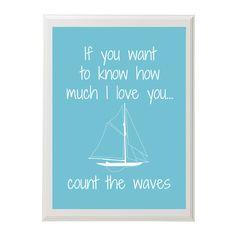 Nursery Nautical Art PrintCount the Waves by PhotosbyAmbreW, $20.00