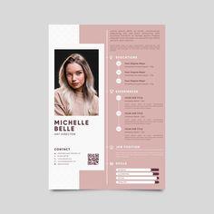 Modern cv template with photo | Free Vector #Freepik #freevector #templates #resume #cv #job Creative Cv Template, Modern Cv Template, Cv Resume Template, Resume Design Template, Cv Photoshop, Fotos Free, Foto Cv, Fashion Cv, Cv Simple