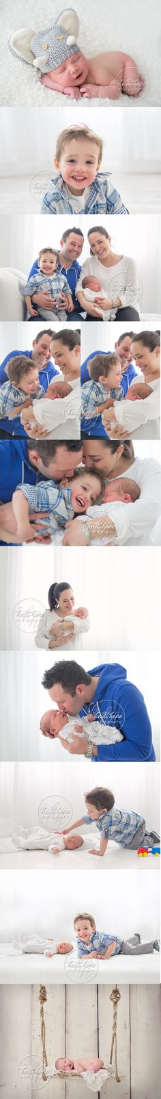 Newborn baby N is welcomed by his big brother in a newborn and family portrait session. #familyportraits #newborn #newbornswing #bigbrother #elephantbeanie #newbornsession #timeless #siblings