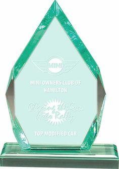 Jade Arrowhead Acrylic Award