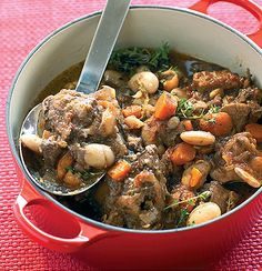 Slow cooked oxtail and beans