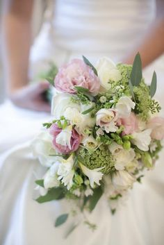 Hand-Tied Bouquet Featuring Mixed Blooms