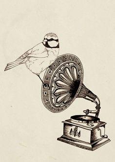 Bird + Gramophone = Happiness