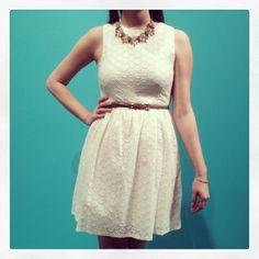 New Arrivals :: Mint Julep Eyelet Dress, $66 xoxo