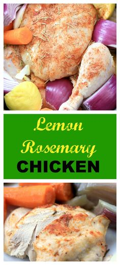 Lemon Rosemary Chicken is easily done in the slow cooker and a great spring meal by Noshing With The Nolands