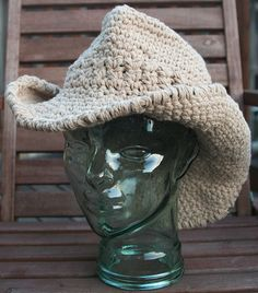 Betty points us to this super cool looking crochet cowboy hat made by Kelly at Trans-Craft-Intental.