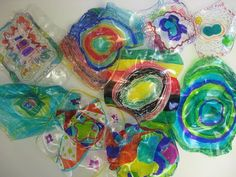 MaryMaking: Dale Chihuly Inspired Sculpture--shrinky dinks