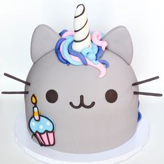 birthday pusheen unicorm cake