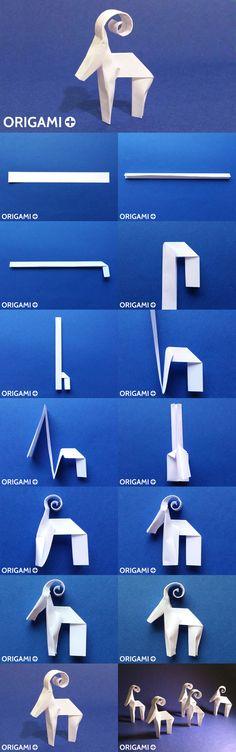 Origami Strip Reindeer