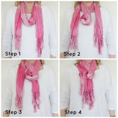 I wish I could remember how to do the different ways to tie a scarf.
