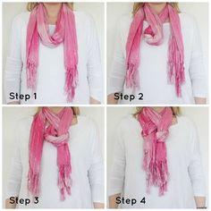 tie a scarf.
