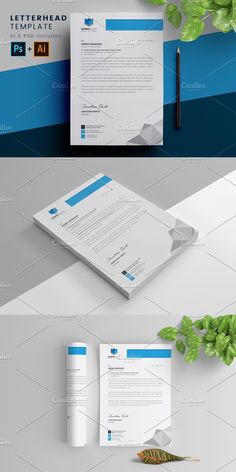Letterhead Template, Stationery Templates, A4 Paper, Paper Size, Google Fonts