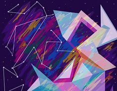 """Geometric Space Abstract"" by Erielle Gonzalez"