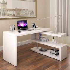 Here are some budget friendly DIY computer desk ideas and tutorials. Here are some budget friendly DIY computer desk ideas and tutorials. Some made with simple pallet wood some made fro Pallet Furniture Desk, Cool Furniture, Furniture Design, Furniture Dolly, Furniture Stores, Furniture Cleaning, Wood Desk, Furniture Online, Discount Furniture