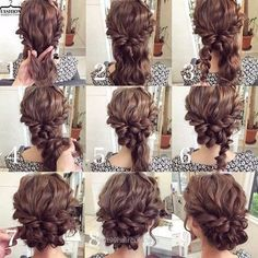 summer wedding hairstyles for medium length hair frisuren haare hair hair long hair short Summer Wedding Hairstyles, Fancy Hairstyles, Hairstyles Haircuts, Curly Haircuts, Braid Hairstyles, Natural Hairstyles, Hot Haircuts, Evening Hairstyles, Easy Homecoming Hairstyles