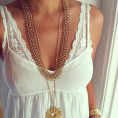 layering white on white, gold on gold improves the look