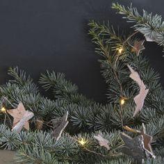 Birch Star LED Christmas Garland