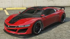 The Jester is a two-door sport car in GTA 5 manufactured by Dinka. The Dinka Jester is heavily based on the 2015 Honda/Acura NSX concept with curvy features Cheap Sports Cars, Sport Cars, Grand Theft Auto Series, Gta Cars, Gta 5 Online, Online Cars, Acura Nsx, Honda S, Vans