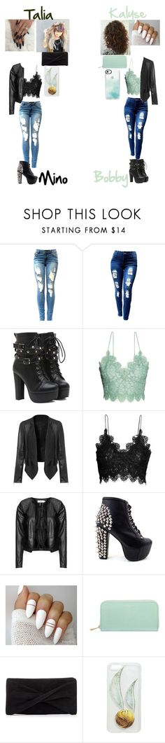 """""""Night out"""" by rainbow-kitsune ❤ liked on Polyvore featuring H&M, Zizzi, Jeffrey Campbell, Aspinal of London, Reiss and Casetify"""