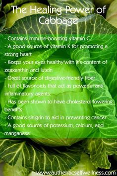 Health benefits of cabbage-apparently I should choke it down more often.
