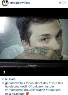 Frank Iero, video shoot, July 2014.